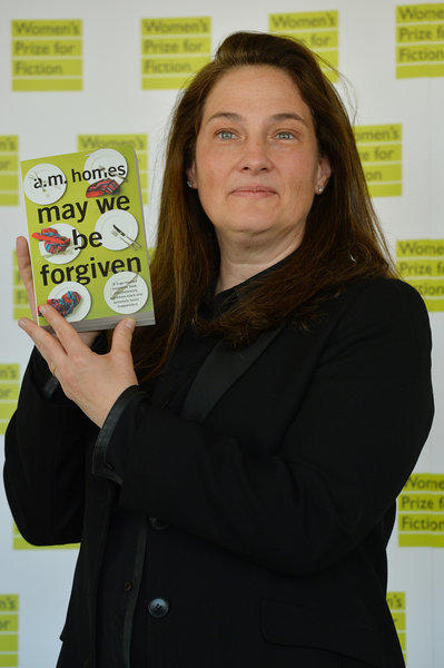 "A.M. Homes with her book ""May We Be Forgiven,"" which won the 2013 Women's Prize for Fiction."