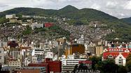 Japanese port city of Nagasaki