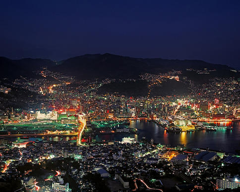 The night view of Nagasaki from Mount Inasa, a favorite spot for residents and tourists alike.