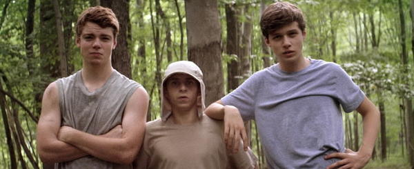 "Gabriel Basso, Moises Arias and Nick Robinson star in ""Kings of Summer."""