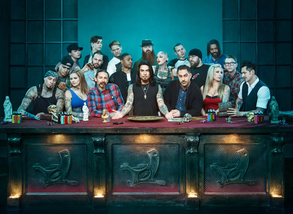 "The Season 3 cast of ""Ink Master,"" Spike's highest-rated show."