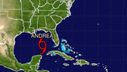 Tropical Storm Andrea has formed in the Gulf of Mexico, becoming the season's first named storm, according to the National Hurricane Center.