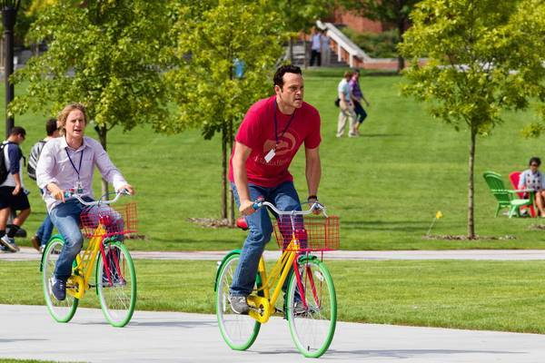 "Owen Wilson, left, and Vince Vaughn star in ""The Internship."""