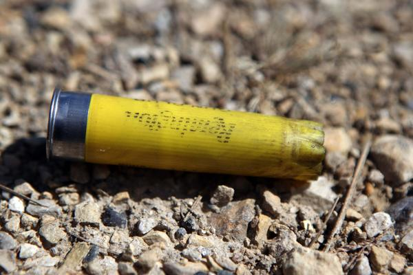 Detail photo of a shotgun shell at the St. Charles Sportsmen's Club on Sunday, Sept.9, 2012 near Elburn.