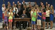 Efforts to improve school safety were in the spotlight Wednesday, as Governor Bob McDonnell and other state leaders gathered for a bill signing ceremony near Richmond.