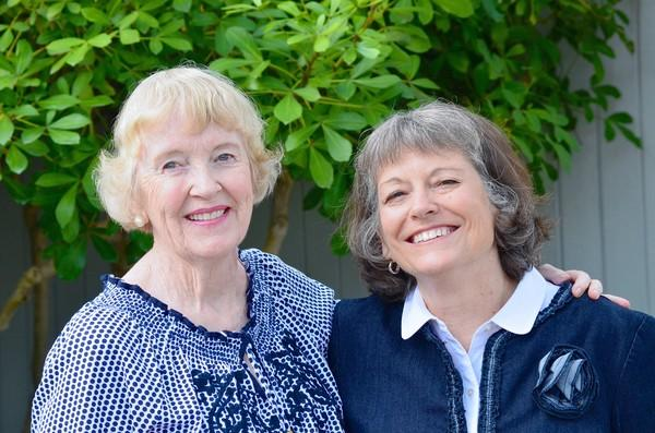 Anne Polkingharn, left, and Molly Mailloux are the only two librarians in Harbor Day School's 60-year history. The private school in Newport Beach celebrated its anniversary over the weekend.