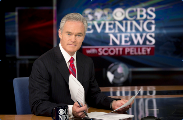 "Scott Pelley in two years as anchor of ""CBS Evening News,"" the telecast has added 720,000 viewers."