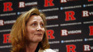 Embattled incoming Rutgers athletic director Julie Hermann was on the Piscataway, N.J., campus Wednesday to discuss assuming her new position, which will take place on June 17.