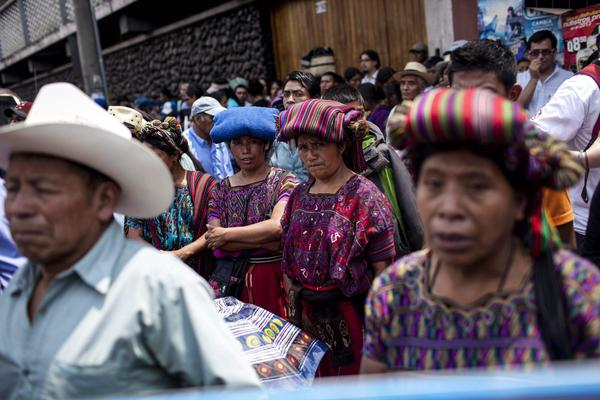 Victims of genocide relatives and activists demonstrate in Guatemala City against the annulment by the Supreme Court of Guatemala to the 80-year sentence issued against the former dictator Jose Efrain Rios Montt.