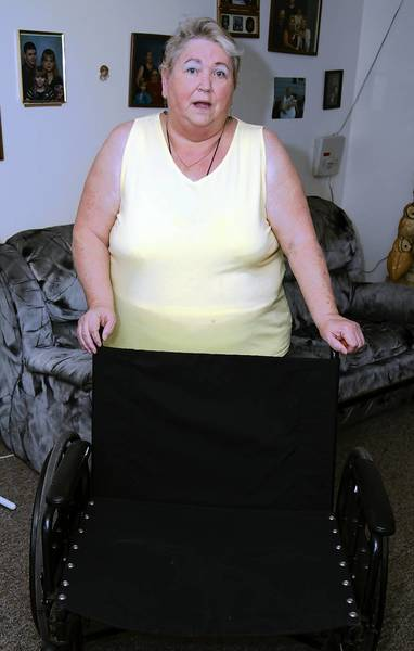 Valerie Roberts, of Rockford, learned this week that her wheelchair, temporarily lost on an Allegiant Air flight, is too damaged to be repaired. The airline told Roberts that it would pay to have the wheelchair repaired or replaced. She will now submit the repair shop's letter to the company.