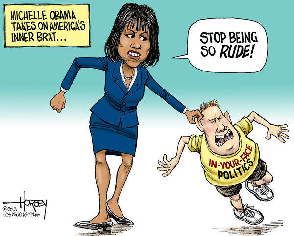Michelle Obama puts the spotlight on rude political discourse - latimes.com