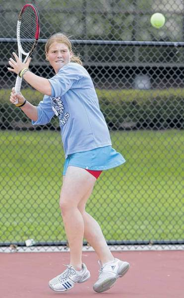 St. Joseph's Maddie Minaudo is teaming with Emily Lyon for a doubles state title bid this week.