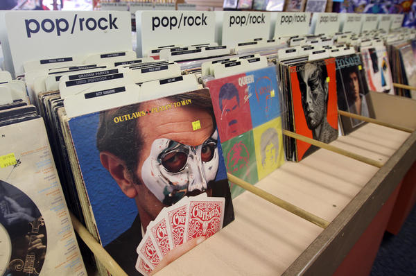 IN THE BEND: June 6, 2013: Vinyl LPs and 45s are starting to see a resurgence in sales as these records sit on shelves at Orbit Music store in Mishawaka via FTP