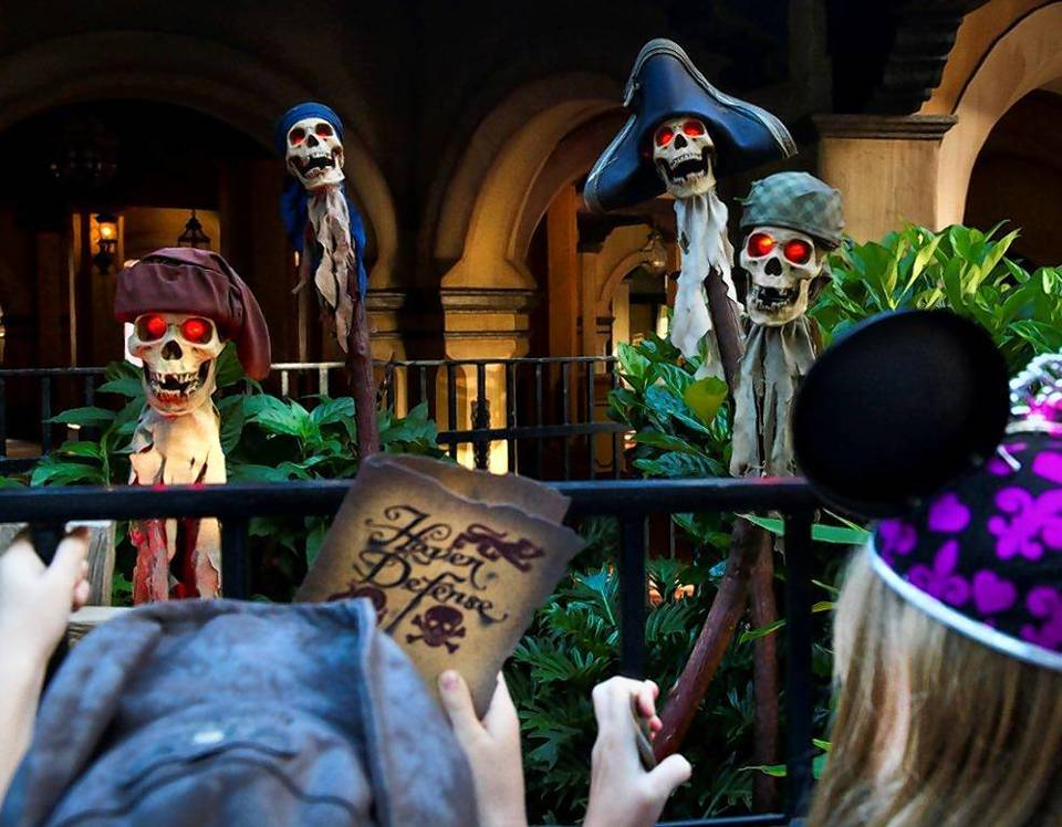 Spirits of pirates are awakened to give clues during the new A Pirate's Adventure: Treasures of the Seven Seas attraction at Magic Kingdom.