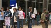 Video: Protesters target the Chicago Sun-Times after photography staff laid off