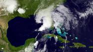 Andrea, the first named storm of the season, worked its way through the Gulf of Mexico toward the Florida coast Thursday, pushing heavy rains and bringing the possibility of scattered tornadoes.