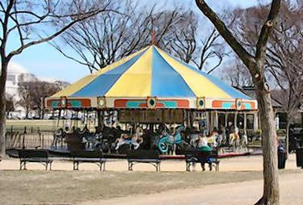 The original merry-go-round used at Gwynn Oak Park was sold to a concessionaire who had it refurbished and moved it in 1981 to the National Mall where it resides today.