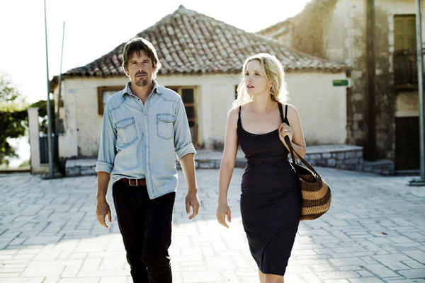 "Ethan Hawke and Julie Delpy in a scene from ""Before Midnight,"" directed by Richard Linklater."