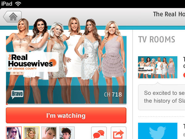 "Zeebox, a maker of second-screen TV technology, launched a new feature called TV Rooms, where fans of a show can gather to talk about a favorite show. The Bravo network is using TV Rooms to promote ""The Real Housewives of Orange County."""