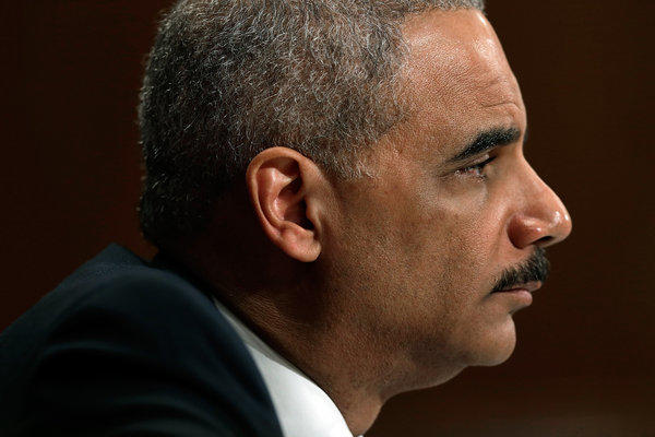 Attorney General Eric Holder testifies before the Senate Appropriations Committee in Washington.