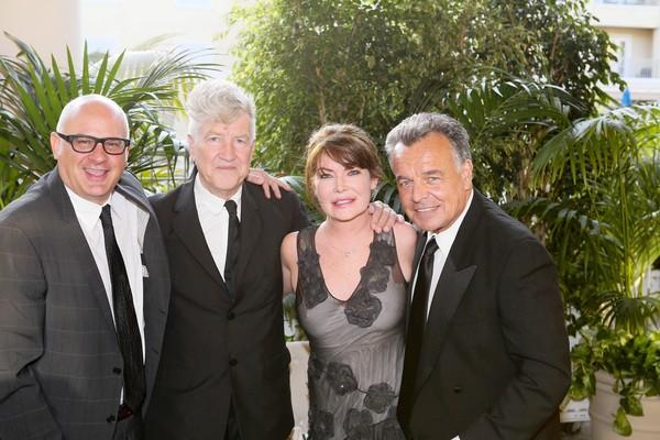 OCMA Director Dennis Szakacs, honoree David Lynch, actors Lara Flynn Boyle and Ray Wise at Art of Dining 2013.