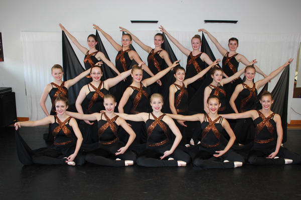 Pictured is the Pointe II class of A & B Dance Dimensions which is taught by instructor Allison Hickman-McFerren. Row 1: Leann Helfrick, Devyn Blubaugh, Isabelle Painter, Kathleen Shepherd and Laura Clement. Row 2: Nicole McCann, Grace Clark, Jordan Fogelsonger, Sarah Coy, Jessica Crist, Kate Donald. Row 3: Leah Morgan, Samantha Carbaugh, Hannah Settlage, Kathleen Jones and Alexa Moats.