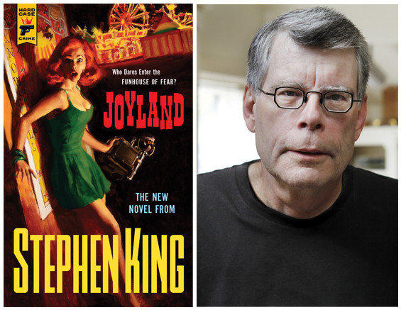"The cover of ""Joyland"" and author Stephen King."