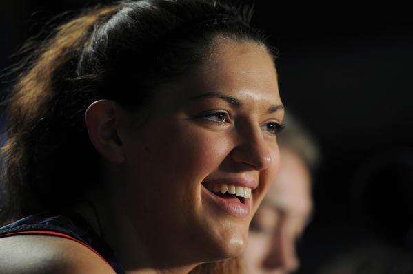 Stefanie Dolson at the Final Four.