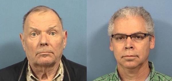 Richard Osty, left, and Ronald Moore both pleaded guilty in connection to a real estate scam.