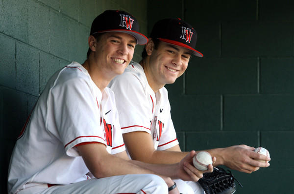 Pitchers Max Fried and Lucas Giolito during their days at Harvard-Westlake.