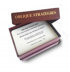 "Producer Brian Eno has reissued his ""Oblique Strategies"" card set."