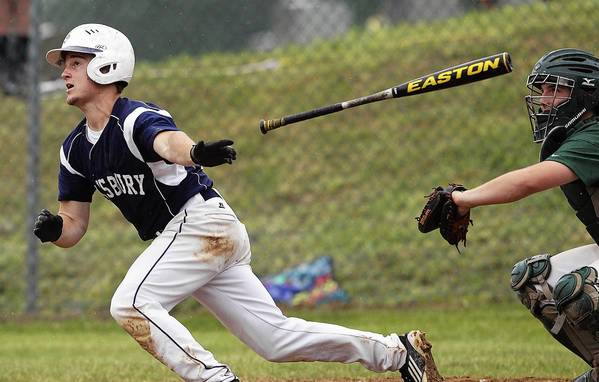 Salisbury's Nic Ampietro strokes an RBI double against Hughesville in seventh inning action of a PIAA 2A quarterfinal game at Walter M. Stump Stadium in Pine Grove Thursday.