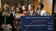 WASHINGTON — With student loan rates set to double in about four weeks, competing proposals to prevent the increase were defeated in back-to-back Senate votes Thursday, leaving the issue unresolved.