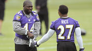 It was a familiar scene for the Ravens' offensive backfield as running back Ray Rice took handoffs and made his cuts with Pro Bowl fullback Vonta Leach operating as his lead blocker on Thursday morning.