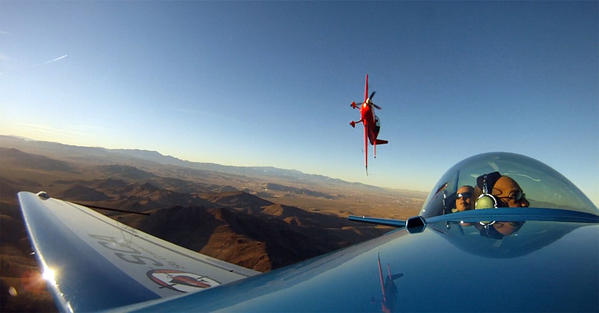 Dads can celebrate Father's Day with some daredevil aerial stunts high above the Nevada desert around Las Vegas.