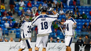 Attackman Drew Westervelt scored a career-high eight goals to lead an impressive offensive showing as the Chesapeake Bayhawks blew out the New York Lizards, 21-8, in the first Major League Lacrosse game at Icahn Stadium on Randalls Island, N.Y.