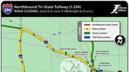 Thousands of motorists will face a lengthy detour overnight Saturday when one of the Illinois Tollway's busiest stretches will be shut down for emergency bridge repairs, officials said Thursday.