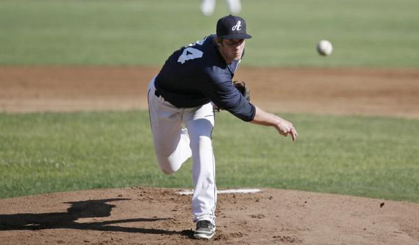 Glendale Angelenos pitcher Billy Richardson threw five innings, struck out six and scattered three hits in a shutout victory.