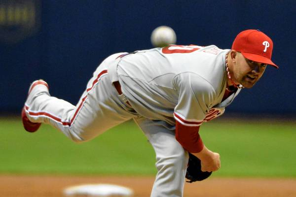 Phillies pitcher Tyler Cloyd evened his record at 2-2 with a solid effort Thursday night against the Milwaukee Brewers at Miller Park.