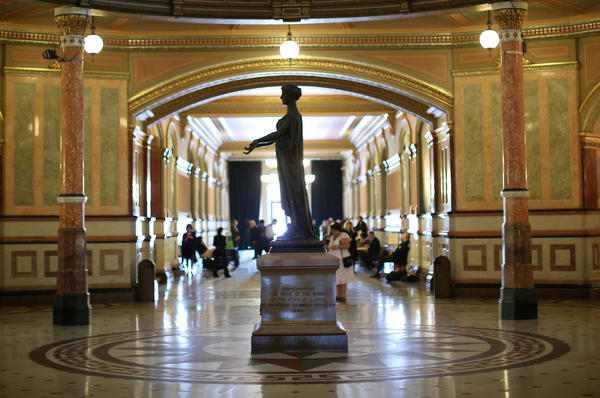 A view from inside the Illinois State Capitol in Springfield.