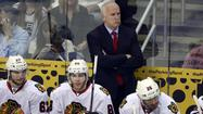 <strong>Blackhawks coach Joel Quenneville changed lines. </strong>