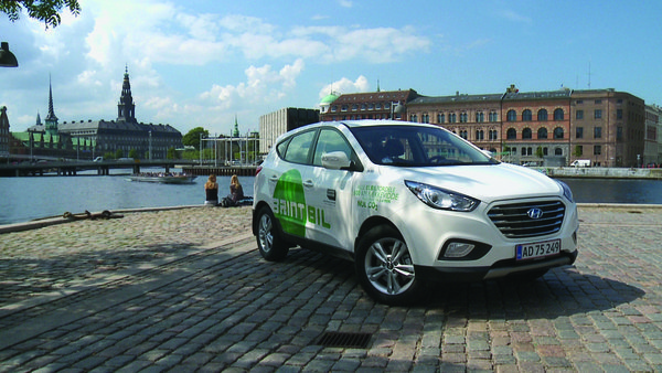 Hyundai Motor Co. rolled out the first 15 of its hydrogen-powered ix35 SUVs in Copenhagen this week. Compared with Europe, the U.S. has few hydrogen fueling stations.