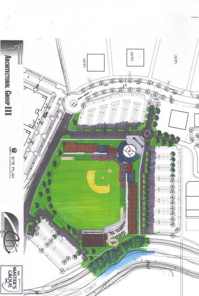 This is a rendering of the new Elkhart County Miracle stadium that Craig Wallin plans to build. The location will be announced in the coming weeks. Photo Provided