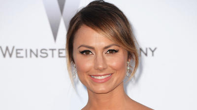 Stacy Keibler models NFL fashions for famed photographer Patric…