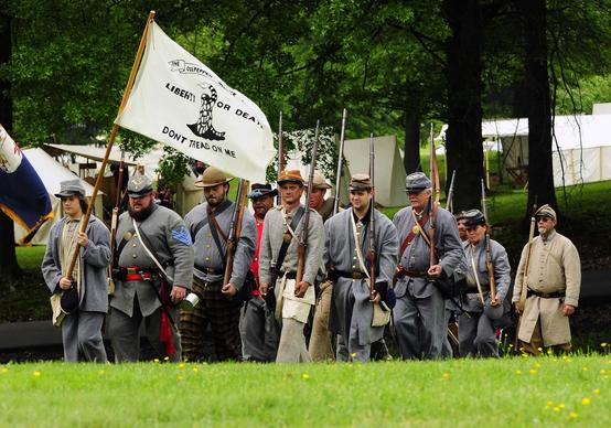 A reenactment event celebrating all West Virginia generals of the Civil War. The event was held at Veterans Park in Clarksburg, W.Va.