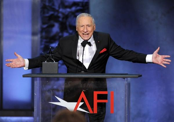 Mel Brooks brought down the house as he received the AFI Life Achievement Award on Thursday evening in Hollywood.