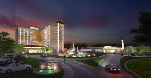 Artist rendering of the Mohegan Sun Palmer development plans.