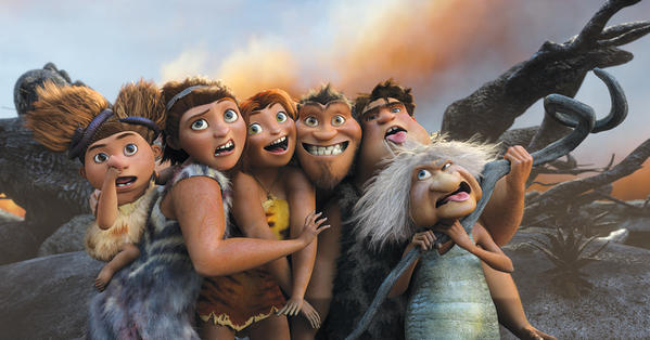 "Still from the DreamWorks Animation movie ""The Croods."""