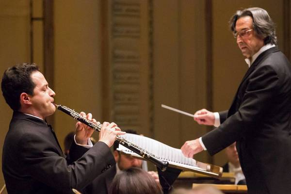 Eugene Izotov performs with the Chicago Symphony Orchestra and director Riccardo Muti on Thursday.