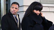 Jesse Jackson Jr. and Sandi Jackson leave U.S. District Court in Washington, D.C. after pleading guilty to federal charges in February.